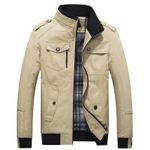 Jacket Loose-Fit Stand Collar Top Youth Coat