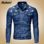 Cotton Jeans Jackets Male Fashion Casual