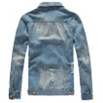 Jean Jacket Slim Fits Denim Jeans Solid Male