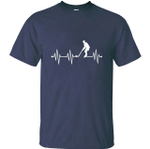 Print Casual heartbeat ice hockey t shirt