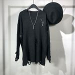 Knitted Sweater Gothic Style High Street
