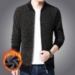 Cardigan Thick Slim Fit Jumpers Knitwear Zipper Casual Sweater