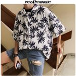 Fashion Shirts Printed Print Short Sleeve Blouse