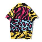 colourful Print Fashion Shirts Casual Short Sleeve