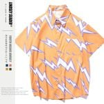 Hip Hop Shirts Streetwear Hawaiian Shirt Flash Print