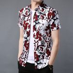 New Flower Printing Short Sleeve Shirts