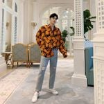 Long Sleeve Loose Casual Shirt Male Streetwear