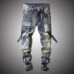 New Fashion Vintage Moto Biker Jeans