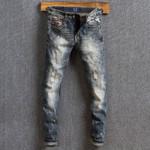 Fashion Jeans Top Quality Retro Wash Paint Designer