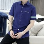 Slim Fit Solid Color Youth Shirt Inch Half Sleeve Shirt
