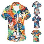 Beach Shirt Hawaii Short Sleeve Printed Shirt