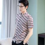 Real Silk Short Sleeve Printed Social Shirts