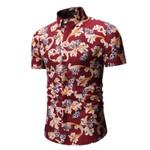 Hawaiian Shirt Short Sleeve Slim Shirts