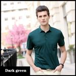 High-end silk casual short-sleeved shirt