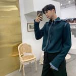 Green Black Vintage Tassel Long Sleeve Shirt
