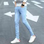 Thin Hot Selling Slim Fit Brand Jeans