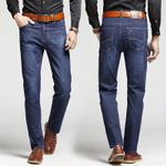 Casual Jeans Business Straight-Cut Simple