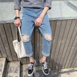 Fashion street hip hop new Cut hole harem jeans