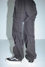 Punk zipper three-dimensional pocket pants