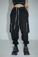Hip hop Punk Zipper stereo pocket casual pants
