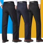 Business Formal Wear Suit Pants Straight-Cut