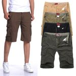 Classic Plus Size Shorts Waist Loose Overalls Cargo Trousers