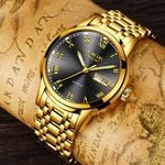 Top Brand Luxury Fashion Quartz Gold Clock