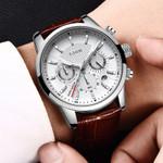 Luxury Fashion New Leather Strap Quartz Watches