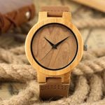 New Khaki Dial Natural Wood Watches