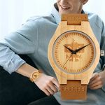 New Robot Dial Natural Wood Watches