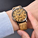 Fashion Wood Texture Business Watches