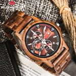 Handmade Natural Wooden Watch Chronograph