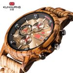 Wood Chronograph Sport Outdoor Military Quartz Watches