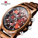 Casual Fashion Stylish Wood Chronograph Quartz Watches