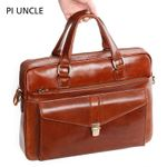 Genuine Leather Luxury Briefcase Laptop Computer Handbags