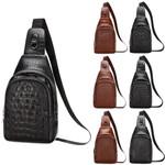 Fashion Cool Leather Chest Sling Pack Shoulder Bag
