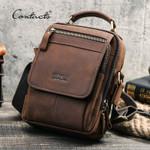 Crazy Horse Leather Messenger Bag Vintage