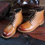 Goodyear Handmade Boots Cow Leather Business