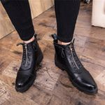 Ankle black Martins shoe Retro Leather Boots