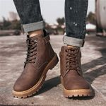 Fashion Male Lace Up Warm Ankle Boots