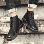 Business Casual Boots Leather Shoes Fashion