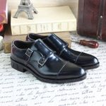 Skin Style Cowhide Business Low Top Custom-made Shoes