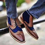 Leather Shoes Ankle  Brogues Fashion Male Oxford Booties