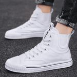 Trendy Ankle Shoes White High Top Sneakers