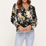 Boho Long Sleeve Floral Shirts Blouses