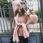 Boho sweater long sleeve cardigan thick warm coats