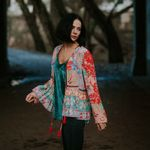 Floral Print Jacket Long Sleeve Boho Coats