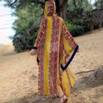 National style Print Beach Cover Up Top Outwear