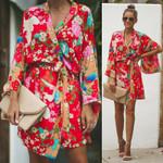 Boho Floral Open Capes Casual Coat
