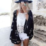 Chiffon blouse Beach Sarongs Cover Up Cardigan Kimono